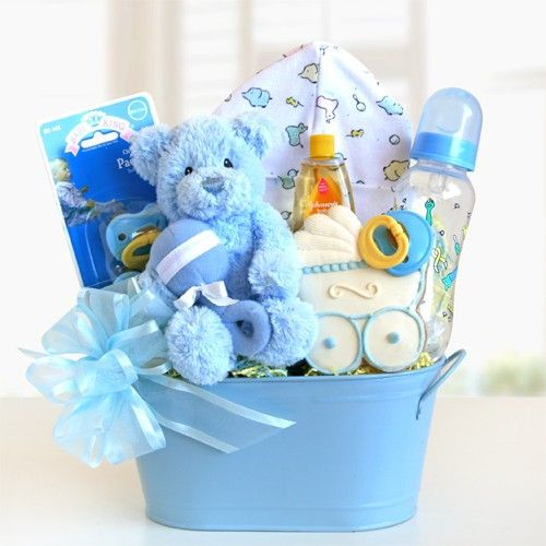 cuddly welcome gift basket blue gc11 baby boy giftsbaby shower
