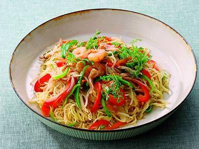 野菜たっぷり!焼きビーフン&麺 レシピ 程 一彦 さん|【みんなのきょうの料理】おいしいレシピや献立を探そう