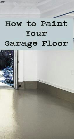 How to paint garage floor.. For my home someday! #Lifehack                                                                                                                                                      More