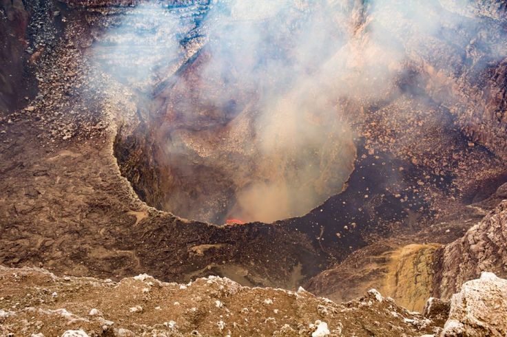 In my recent visit to Masaya National Park in Nicaragua, I was able to experience something I have never done before; climb to the top of a very active volcano and witness the stunning, artistic show that our planet has to offer, deep within...