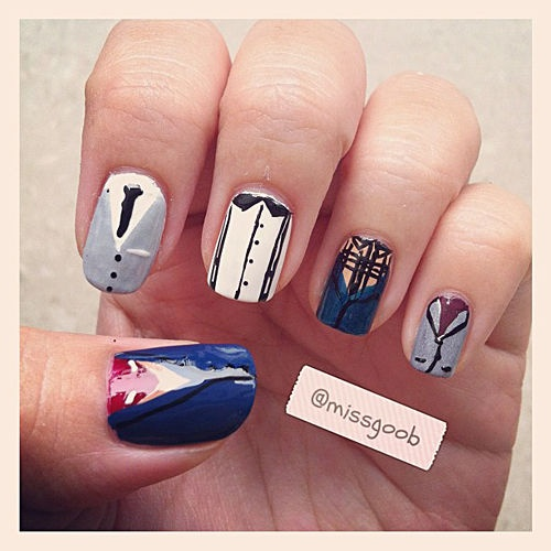 MTV Style – The Best One Direction Nail Art....i want these nails
