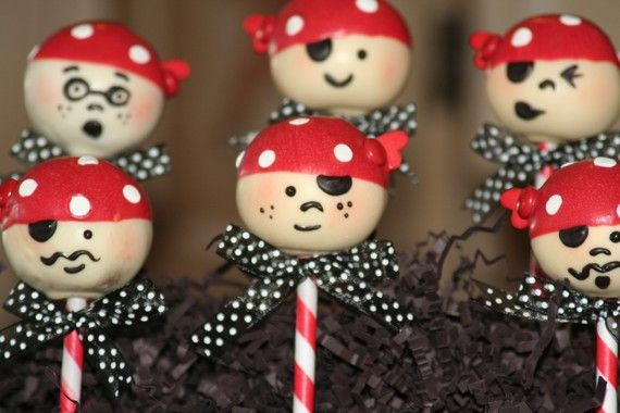 Mom's Killer Cakes & Cookies Pirate Cake Pops by MomsKillerCakes, $36.50