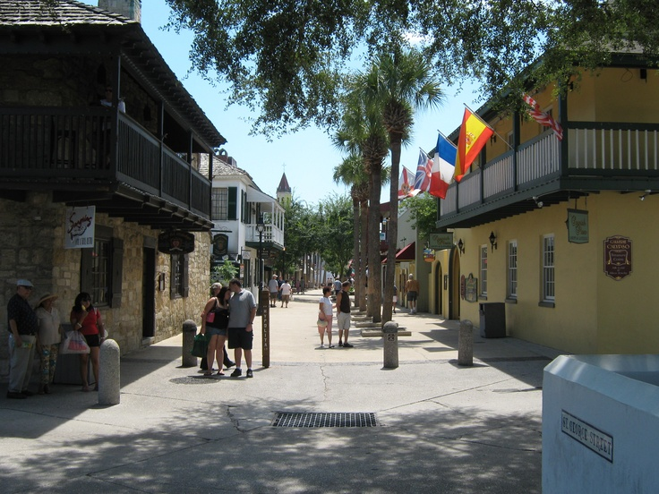 A casual stroll down St. George Street in historic downtown St. Augustine