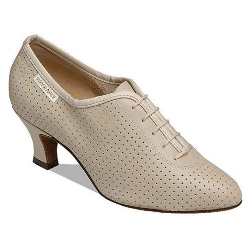 Supadance 1025   Teachers practice shoe in Black or Beige perforated leather. Regular fitting.   Price: 92.30€