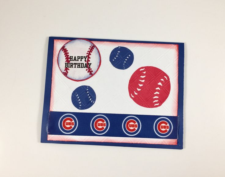 Chicago Cubs,Chicago Cubs card,Chicago Cubs birthday,Card for Chicago Cubs fan,Chicago Cubs party,MLB Chicago Cubs,Chicago cubs collectible by Andreaswishcraft on Etsy