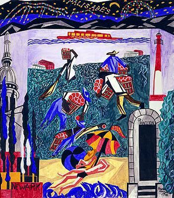 New Jersey, from the United States Series ~ Jacob Lawrence