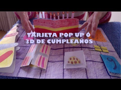 Cómo Hacer una Tarjeta Pop Up o 3D de Cumpleaños. Pop Up Happy Birthday Card. 3d Happy Birthday Card