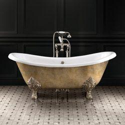 Lamé Ist Die Neue Freistehende Badewanne Aus Gusseisen Devon U0026 Devon Für  Die Raummitte. Sie