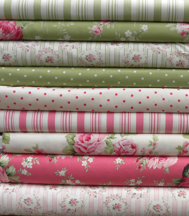 Barefoot Roses Legacy by Tanya Whelan for Free Spirit Fabrics 9 Fat Quarter Bundle.