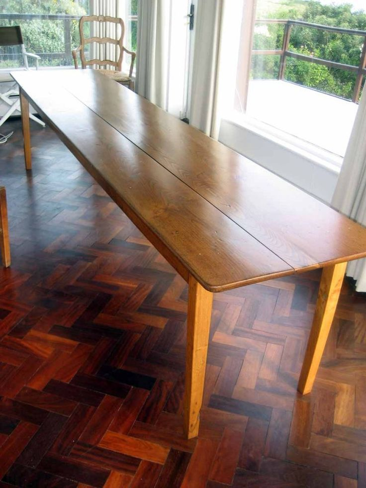 It's also great for creating the maximum amount of worktop and storage space by optimising the available kitchen space. For Sale: Rare French Dining Table (Long, Narrow, Curiously Modern) - Improvised Life   Narrow