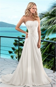 My wedding dress as seen on model, from outerinner.com