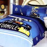 Found it at Wayfair - Formula 4 Piece Twin Duvet Cover Bed