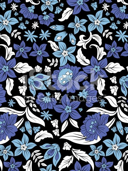 blues floral pattern royalty-free stock photo