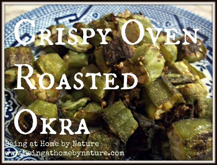Crispy Oven Roasted Okra - this is my all time favorite veggie!  ~Mel @ RaisedUrbanGardens.com