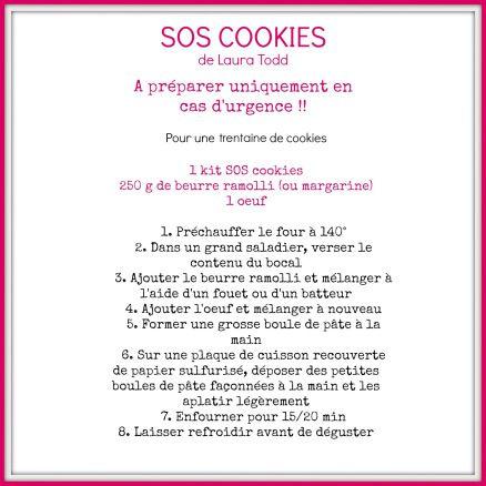 Recette SOS cookies
