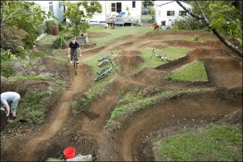 pump track! not this close to the house though, thats why ...