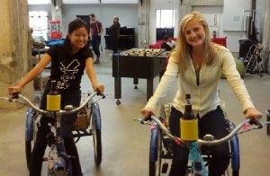Friday afternoon at the workplace - Atlassian Staff on Trikes