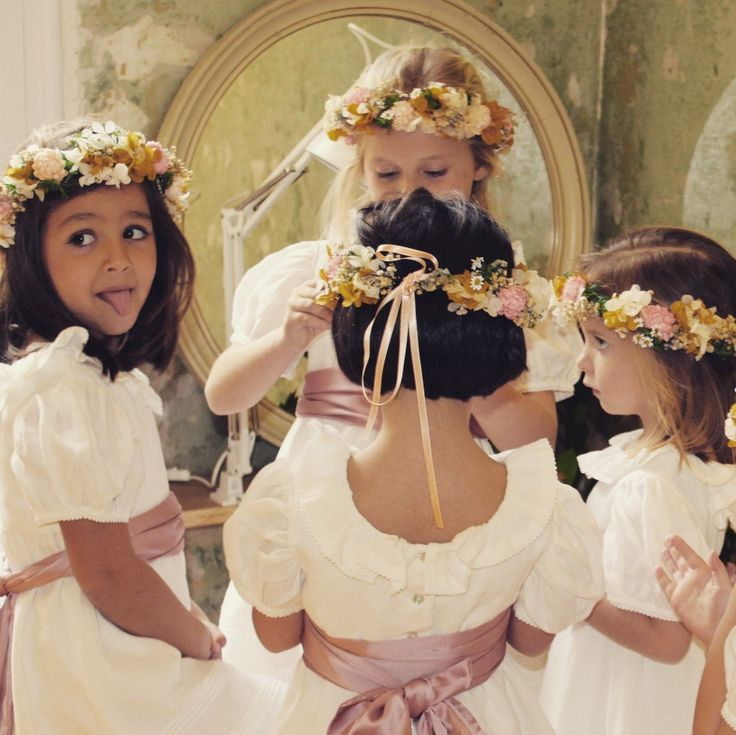 Damitas listas para bodas de primavera. www.bonmikids.com