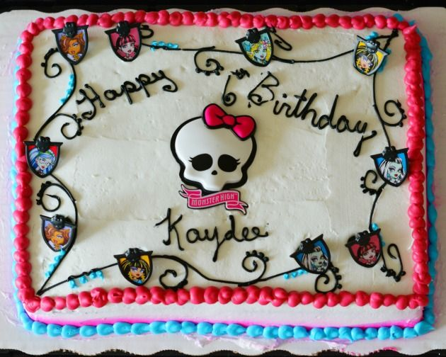 Monster High Cakes At Walmart But The Best Part Of The