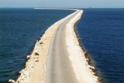 Pedraplen to Cayo Coco (Cuba)