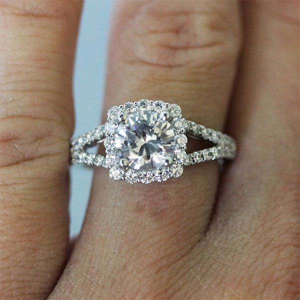 The Square Halo Engagement Ring