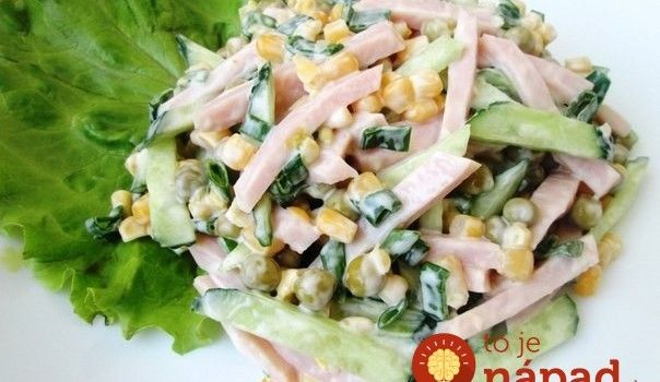 """Šunkovo-zeleninový šalát """"Chutná Minútka"""""""