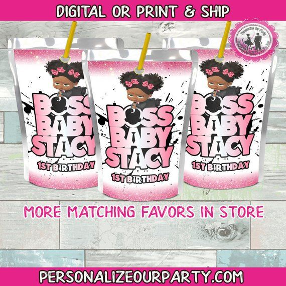 Capri Sun Or Kool Aid Jammers Stickers Welcome And Thank You For Considering Personalize Our Party As The Baby Birthday Party Girl Baby Party Favors Boss Baby