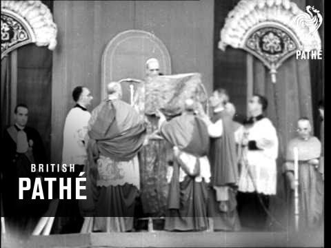 Pope Pius XII warns the world against communism during Easter in Vatican City, It...HD Stock Footage - YouTube