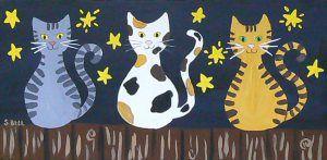 folk art - cats