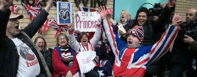 Welcome, royal princess: Kate gives birth to a girl. (AP)