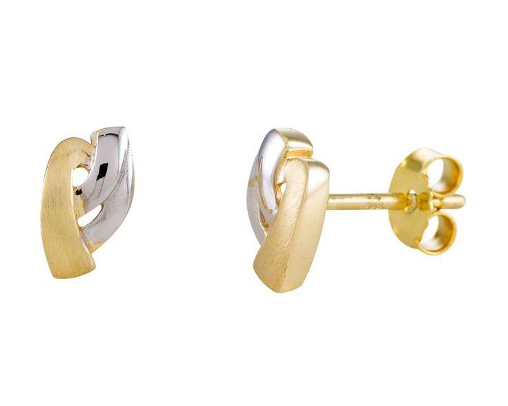 Glow Gouden Oorbellen bicolor 206.0390.00. Prachtige gebogen Oorknoppen. Uitgevoerd in Wit- en Geelgoud. Elegante en tijdloze oorbellen. Past echt bij elke outfit en geeft u de uitstraling die bij past. https://www.timefortrends.nl/sieraden/gouden-sieraden/gold-collection.html?___SID=U#p=7
