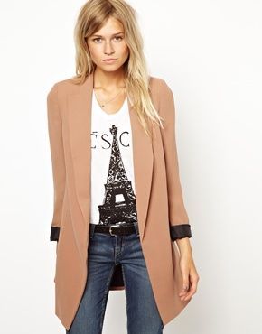 fall coat Saw the tee at Banana Republic.  I get it now.