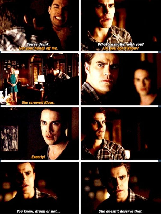 love that Stefan punched him. Go, Stefan, go!!! Caroline is so lucky to have a friend like Stefan.