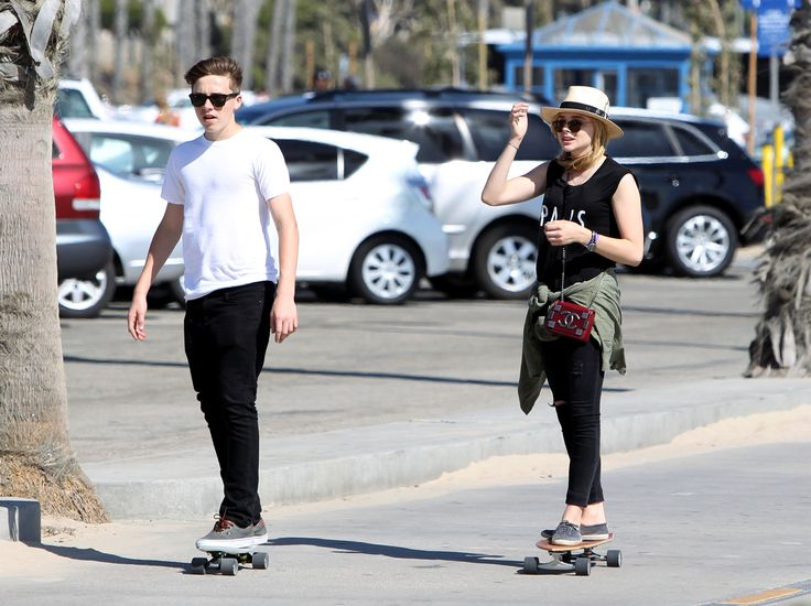 Chloe Grace Moretz Brooklyn Beckham Skateboarding Pics - Chloe Grace Moretz Boyfriend - Seventeen