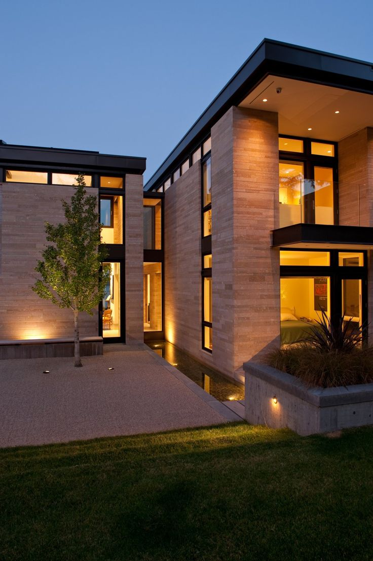 beautiful soft lighting love the tree in the courtyard washington park hilltop residence by modern housesmodern house designarchitecture