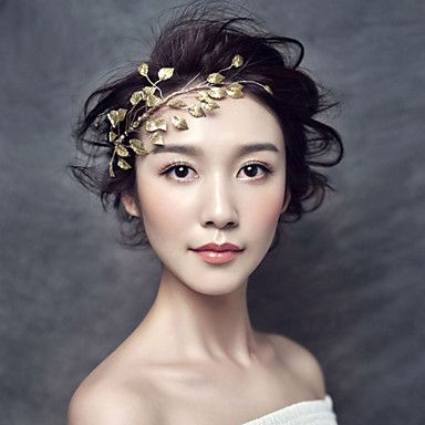 Bride's Leaves Shape Beads Wedding Accessories Headbands 1 Pieces 4919816 2017 – $17.99