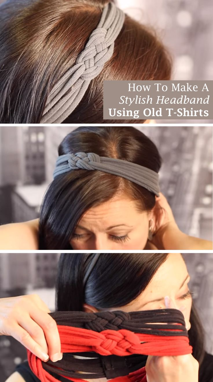 Here's simple and cheap headband that you can make using old shirts. See video and written instructions==>  http://gwyl.io/make-stylish-headband-using-old-t-shirts/ | How To Make A Stylish Headband Using Old T-Shirts |