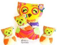 Mommy and Baby Nesting Owl Sewing Pattern - Dolls And Daydreams - 1