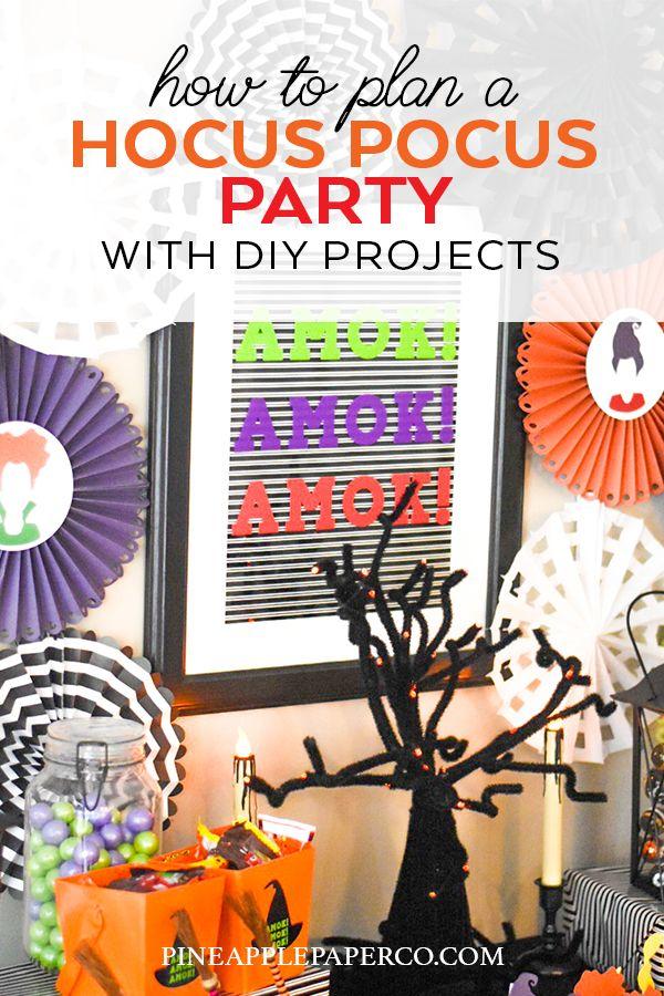 Hocus Pocus Halloween Party Ideas Hocus Pocus Party Halloween School Crafts Diy Halloween Decorations