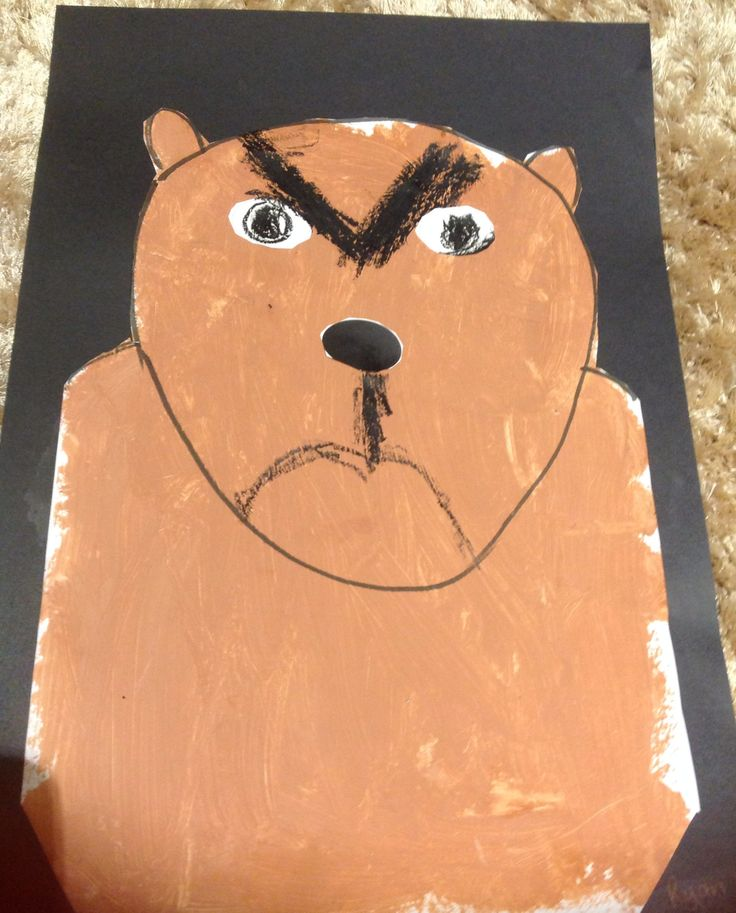 Artwork by Year 1 from a Very Cranky Bear by Nick Bland