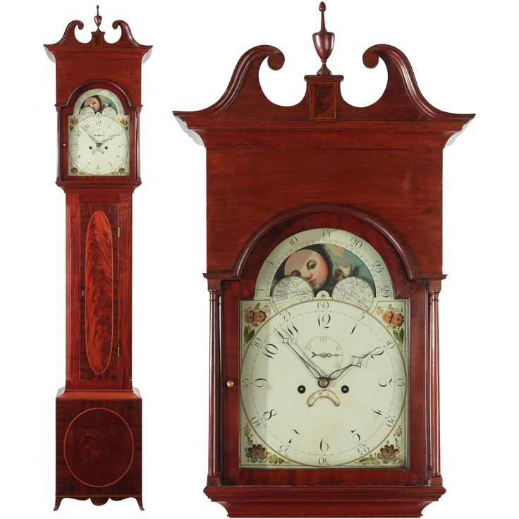 American Federal Antique Tall Case Clock Maryland C 1795 1810 Found