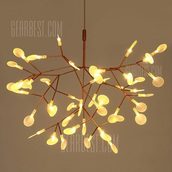 Art Creative Leaf Firefly LED Chandelier 220V