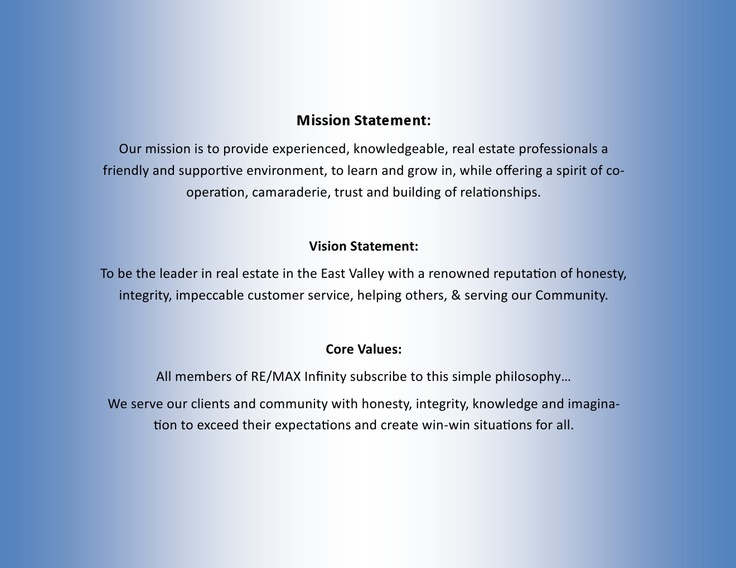 good mission statements have five major Mission statements – world's top 10 brands  microsoft includes its values, which are good and probably closer to a mission statement: as a company,.