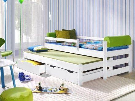 Dětská postel s přistýlkou - Doplo bílá