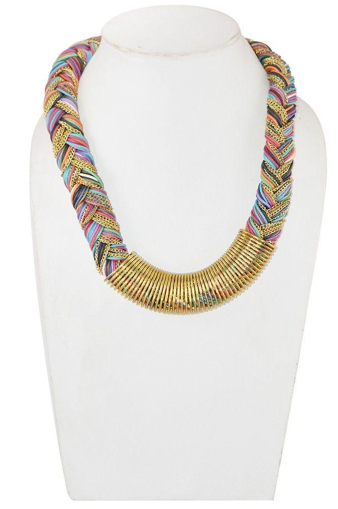 Adbeni+Multicoloured+Handcraft+Necklace-ADB-01+Price+₹539.00