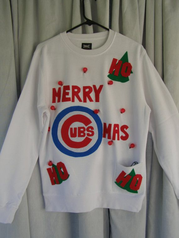 Ugly Christmas Sweater Chicago Cubs Size Small By Thecostumestop
