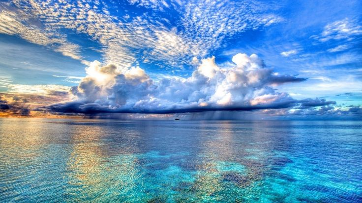 Beautiful Sky And Beach Wallpaper Download #5538 Wallpaper | High ...