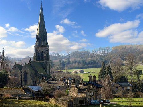 Edensor, Derbyshire on the Chatsworth estate
