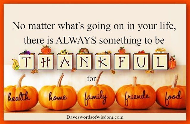 Always something to be thankful for.