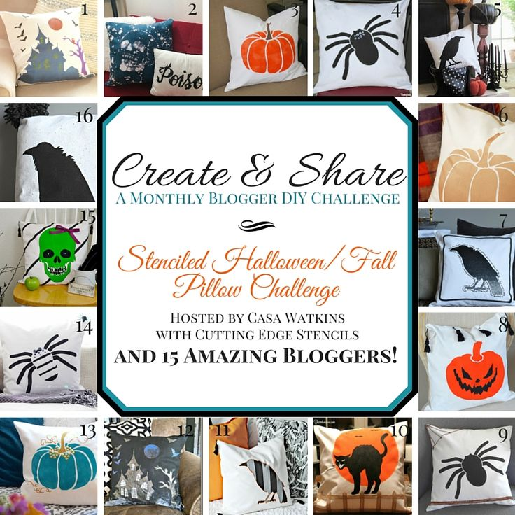 Halloween Paint-A-Pillow and October Create and Share -